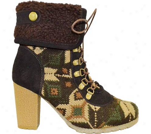 Muk Luks Knit Lace Up Boot (women's) - Military