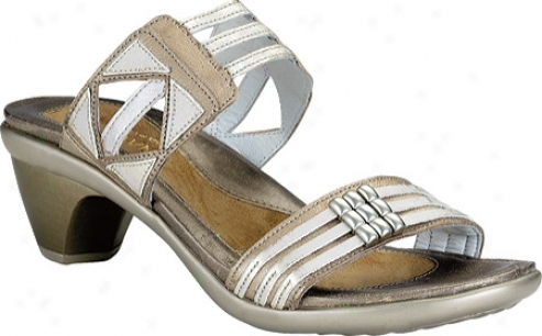 Naot Afrodita (women's) - Champagne Leather/dusty Silver/quartz Leather