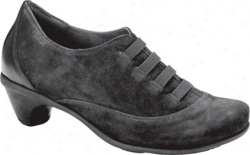 Naot Amplify (women's) - Black Velvet Nubuck/madras Leather