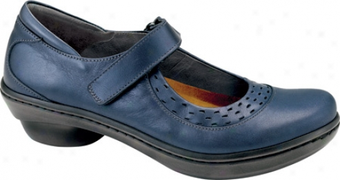 Naot Blue Jay (womens') - Polar Sea Leathet/navy Patent Leather