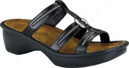 Naot Brasilia (women's) - Black Gloss Leather