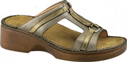 Naot Fiona (women's) - Platinum Leather/brass Leather