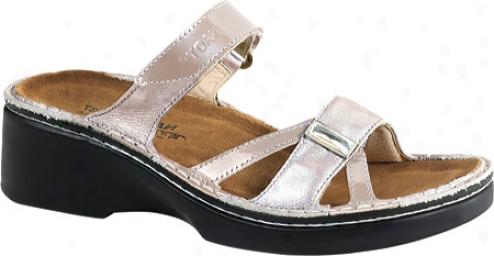 Naot Grecia (women's) - Taupe Patent Leather/quartz Leather