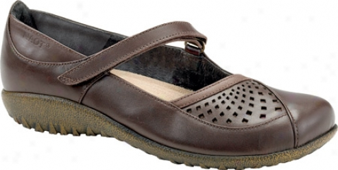 Naot Karetu (women's) - French Roast Leatheer/brown Shimmer Nubuck