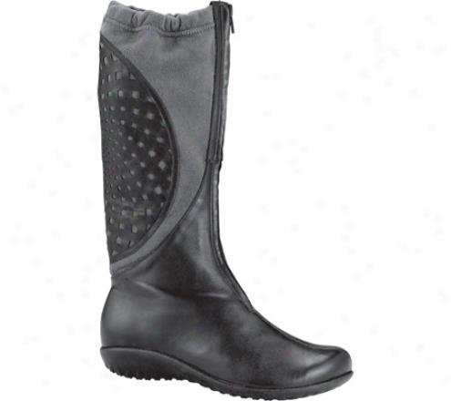 Naot Otaki (women's) - Black Mardas Leather/grey Suede