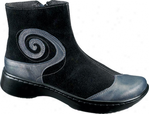 Naot Oyster (women's) - Hardness Leather/black Suede