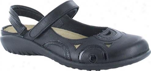 Naot Rongo (women's) - Jet Black Leather/black Patent Leather