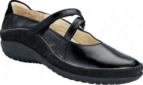 Naot Tangata (women's) - Black Madras Leather/black Suede