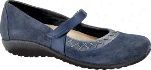 Naot Timaru (women's) - Blue Soft Suede/steel Leather/polar Sea Leather