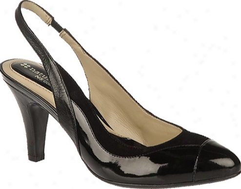 Naturalizer Clby (women's) - Wicked Gleam Patent Pu/suede/leatherr