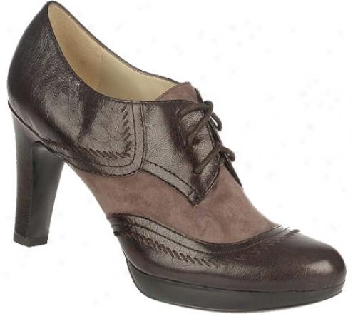 Naturalizer Ilona (women's) - Oxford Brown Giglio Leather/pavement Suede