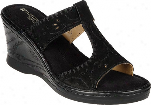 Naturalizer Rosie (women's) - Black Soft Buck