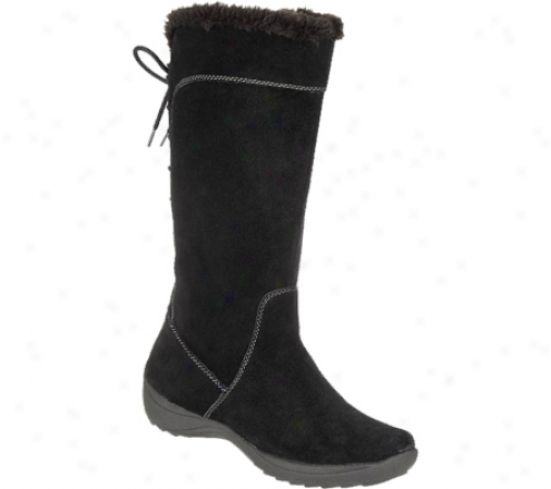 Naturalizer Violanne Wide (women's) - Black Suede/fur/calf Suede Leather