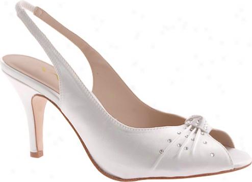 Nina Flo Dyeable (women's) - White Dyeable Satin