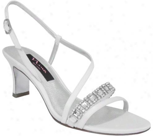 Nia Gerine (women's) - White Luster Satin