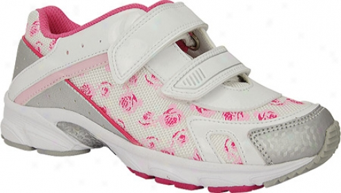 Nina Kissa (infant Girls') - White/pink Flowers Mesh/patent/metallic