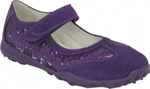 Nina Shlmmy (girls') - Deep Purple Suede/purple/silver Sequins