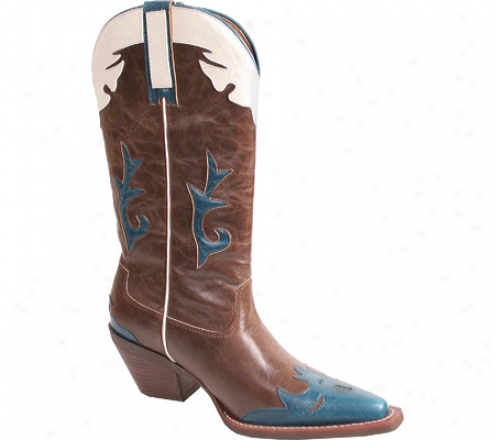 Nomad Pokie (women's) - Brown/turquoise Crazy Horse Pu