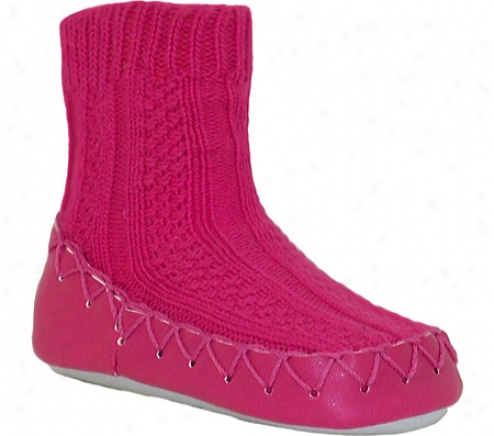 Nowali Cable Knit Moccasin (women's) - Fuchsia