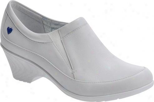 Nurse Mates Sabrina (women's) - White Full Grrain Leather