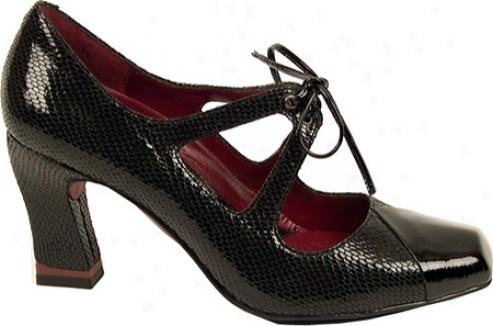Oh! Shoes Alana (women's) - Black Python Patent