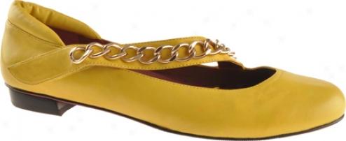 Oh! Shoes Franca (women's) - Mustard Silky Nappa