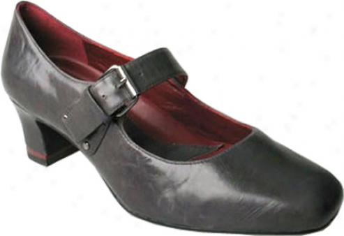 Oh! Shoes Max (women's) - Gunmetal Antiqued Kid