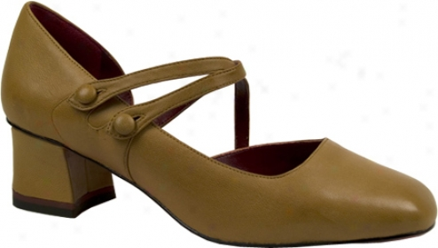 Oh! Shoes Melany (women's) - Teak Silky Nappa Leagher
