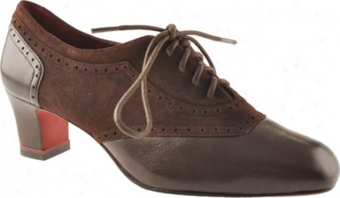 Oh! Shoes Mineba (women's) - Brown Kid Suede/silky Nappa