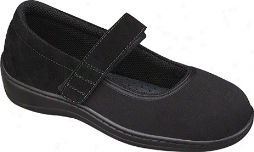 Orthofeet 827 (women's) - Black Synthetic Stretch