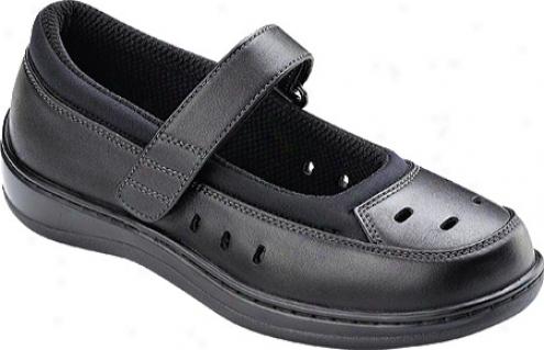 Orthofeet 862 (women's) - Black Leather
