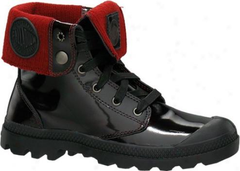 Palladium Baggy Leather Knit 92755 (women's) - Midnight Red
