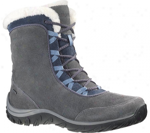 Patagonia Lugano Lace Mid Waterproof (women's) - Forge Grey Pigskin Leather