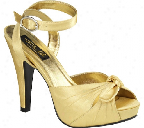 Pin Up Bettie 04 (women's) - Gold Satin