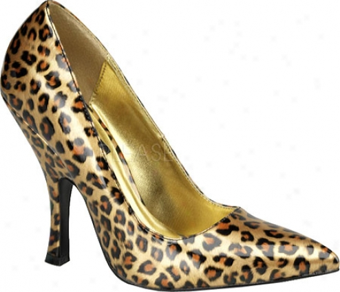 Pin Up Bombshell 0l (women's) - Gold Cheetah Patent Leather