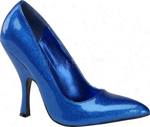 Straw  Up Bombshell 01g (women's) - Azure Pearlized Glitter Patent Leather