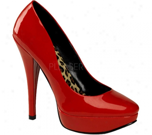 Pin Up Harlow 01 (women's) - Red Patent Leather