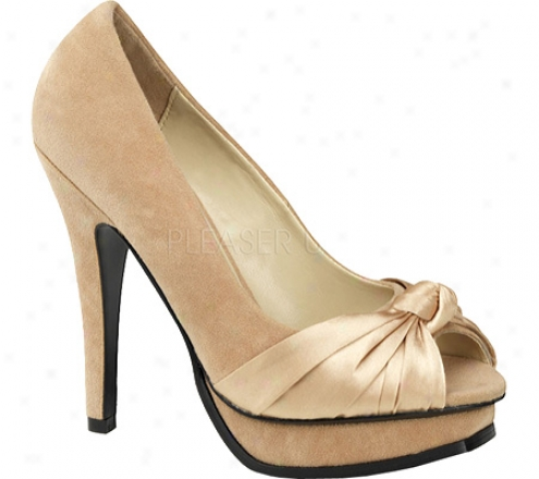 Pin Up Will 05 (women's) - Champagne Sueded Pu/satin