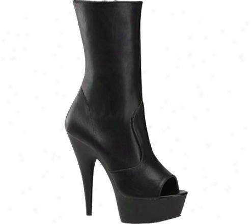Pleaser Delight 1012 (women's) - Black Leather/black