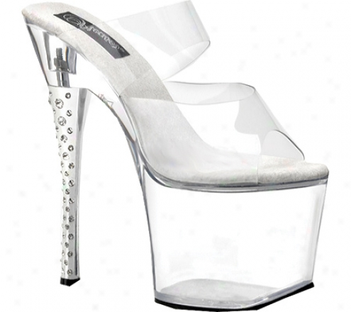 Pleaser Diamond 702 (women's) - Clear/clear