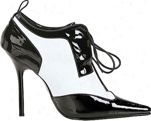 Pleaser Milan 60 (women's) - Black/white Patent