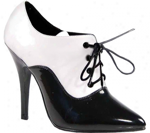Pleasrr Seduce 460 (women's) - Black/white Patent
