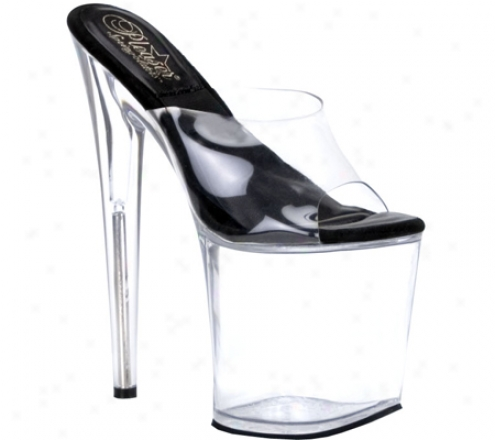 Pleaser Sol 801-o (women's) - Clear/black