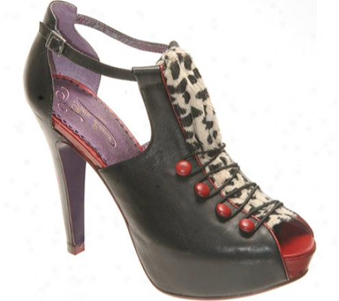 Poetic Licence Curttain Call (women's) - Black Leatehr/fabric