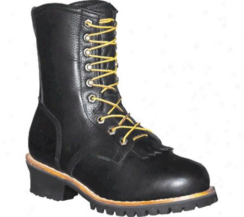 """""""pro Line Logger Boot 10"""""""" (men's) - Black Full Grain Leather"""""""