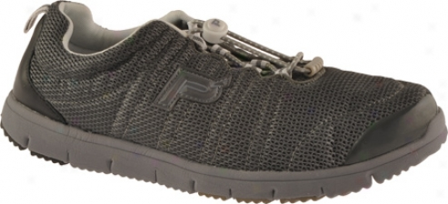 Propet Travel Walker (men's) - Charcoal Grey/bblack