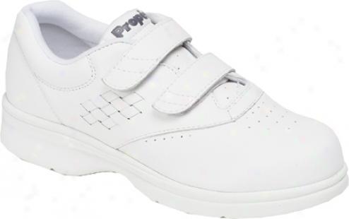 Propet Vista Walker Strap (women's) - White Smooth