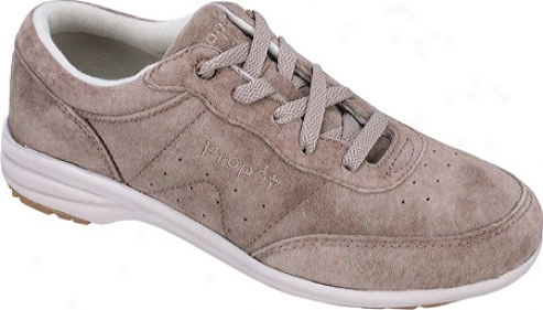 Propet Washable Walker Suede (women's) - Classic Taupe