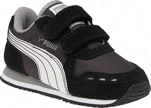 Puma Cabans Racer V (infants') - Blaco/dark Shadow/white
