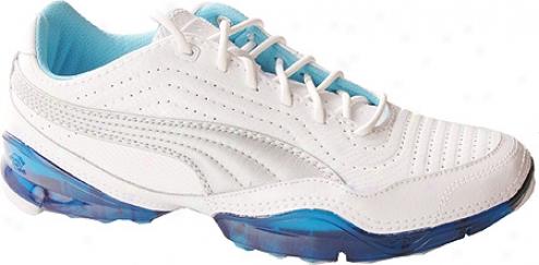 Puma Cell Meio L (wommen's) - White/puma Silver/norse Blue